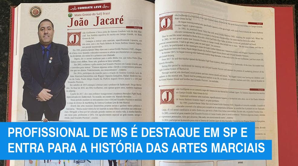 Profissional de MS entra para a história das artes marciais ao ser destaque em livro