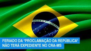 Feriado: CRA-MS não terá expediente nesta sexta-feira