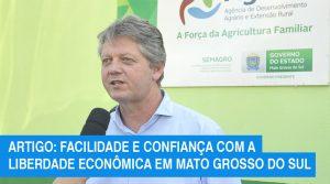 Artigo: Facilidade e confiança com a Liberdade Econômica em Mato Grosso do Sul