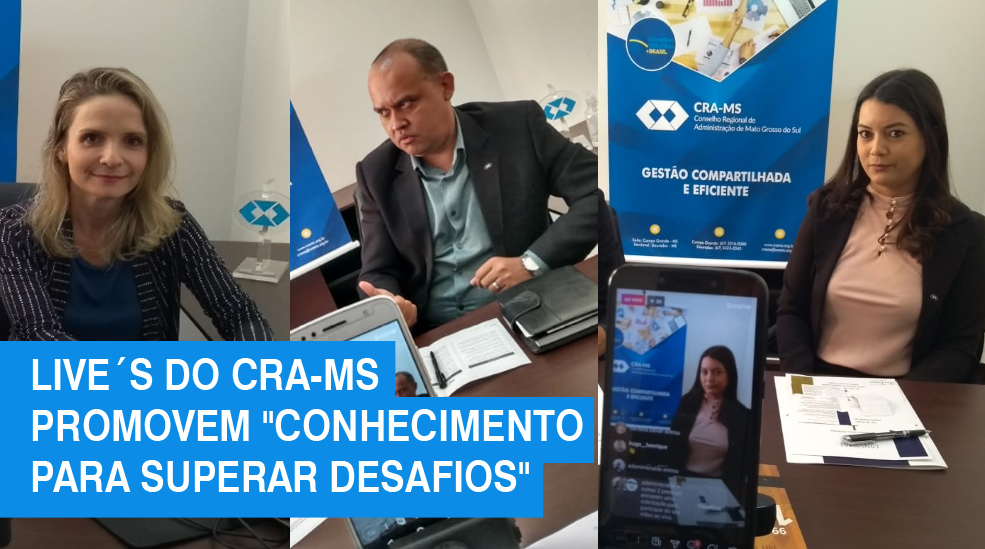 Live´s do CRA-MS superam 1.800 visualizações no Facebook, Instagram e Youtube