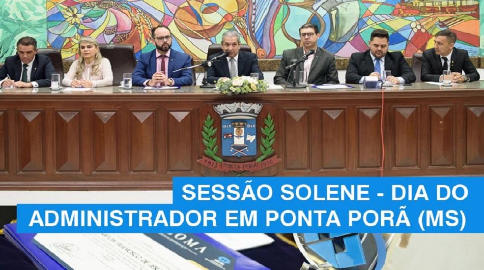 sessão solene câmara municipal de ponta porã