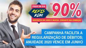 CRA-MS lança novo Refis com até 90% de desconto; vencimento da anuidade 2020 foi prorrogado