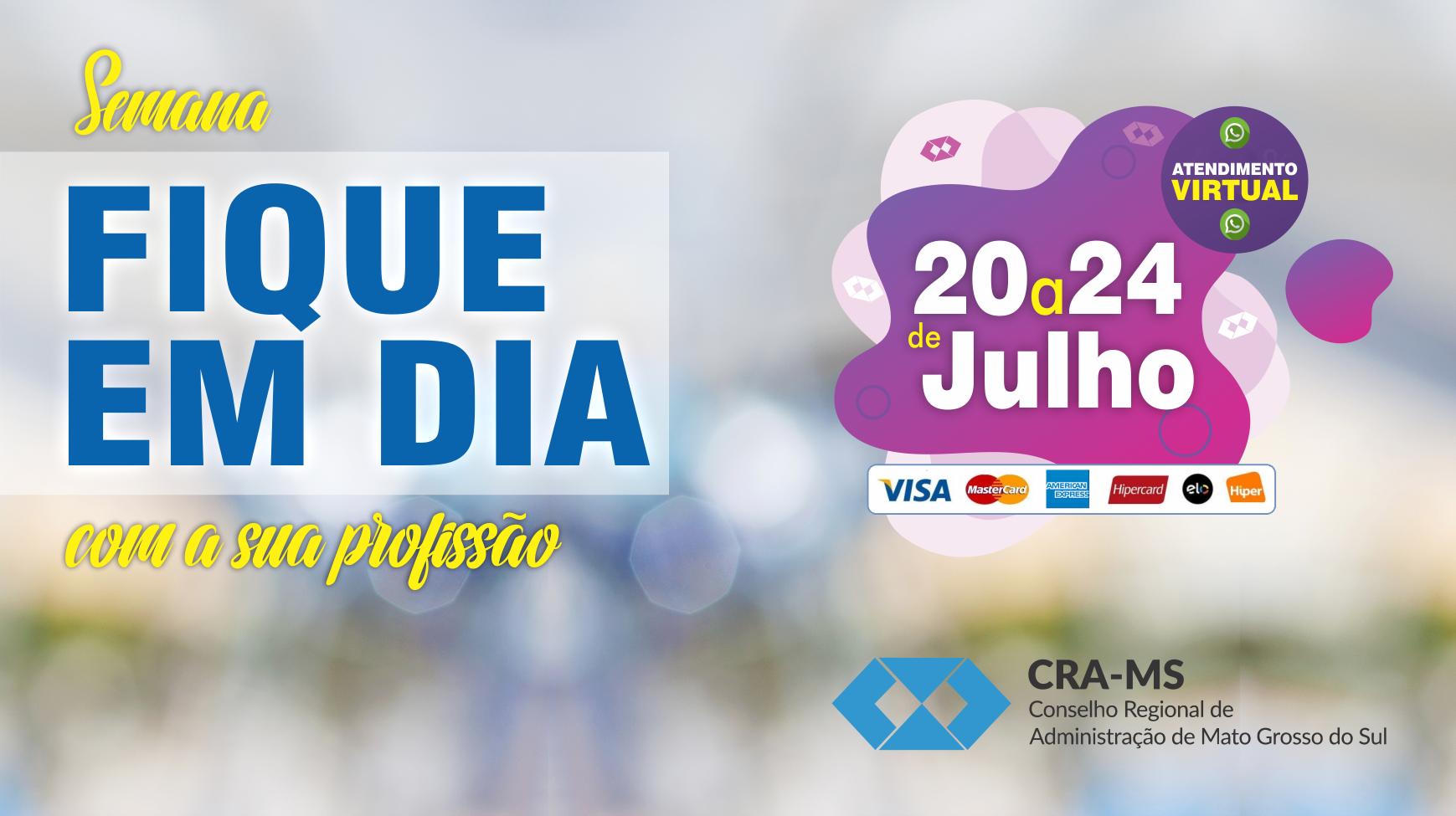Semana do Fique em Dia do CRA-MS possibilita negociação facilitada de débitos