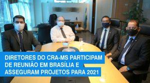 Diretores do CRA-MS participam de reunião em Brasília e asseguram projetos para 2021