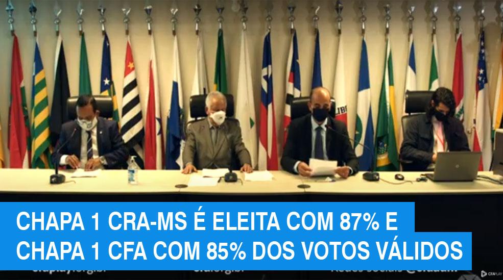 Eleições da Administração: confira os eleitos para o CFA e CRA-MS