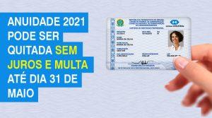 CRA-MS isenta juros e multa para quitação da anuidade até 31 de maio